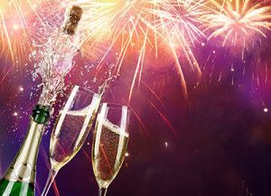 Champagne And Bottle With Fireworks | New Year's Eve Criminal Charges